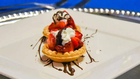 Strawberry Tarts w/Whipped Cream & Chocolate Drizzle