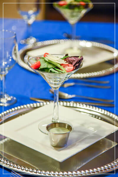 Salad in a martini glass